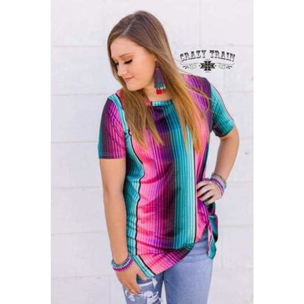 Crazy Train Clothing Knot Perfect Serape Knot Top