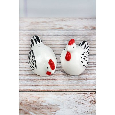 Ceramic Chickens Salt & Pepper Set