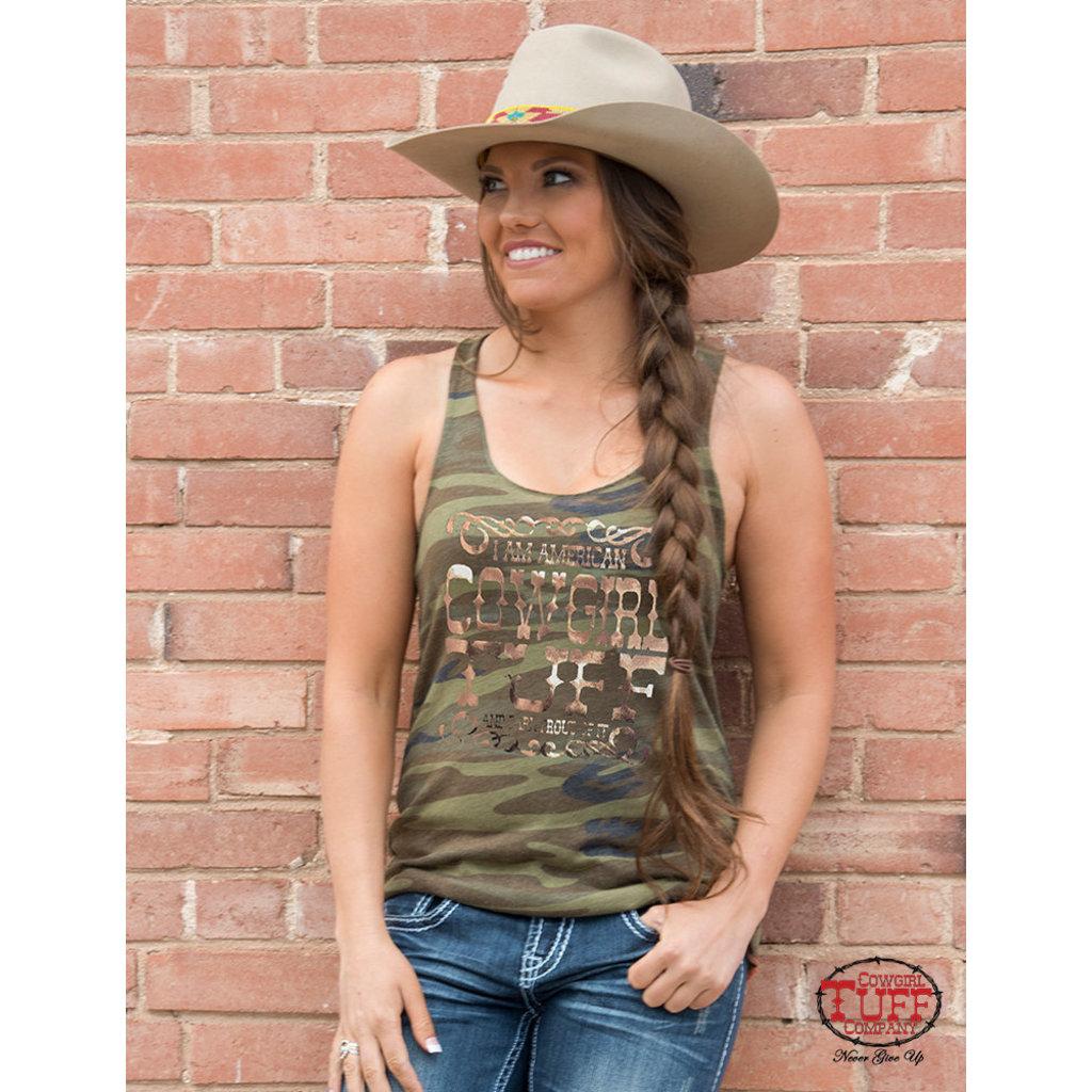 Cowgirl Tuff Cowgirl Tuff and Proud Camo Racerback Tank