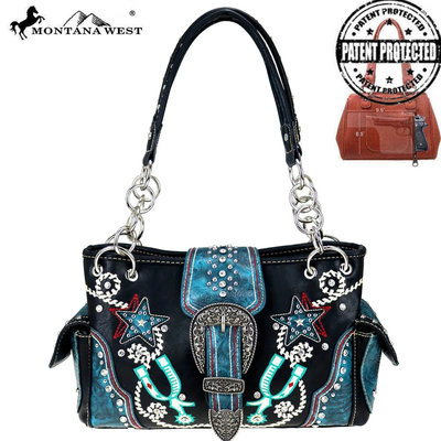 Montana West Buckle Collection Conceal & Carry Satchel