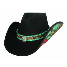 Bullhide Crazy Beautiful Felt with Leather and Concho Accents