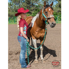 Cowgirl Tuff Red & Serape Lux Athletic Jersey Cadet Zip Tee