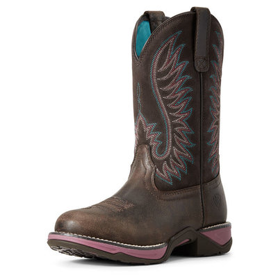 Ariat Anthem Round Toe Western Boot Acorn Fudge