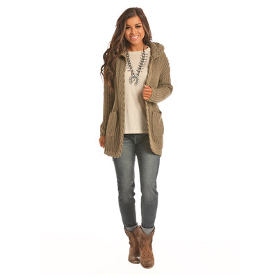 Panhandle Slim Cable Knit Wrap Sweater 46-2915