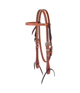 Weaver Turquoise Cross Sunburst Headstall