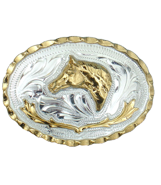 German Silver Horsehead Buckle