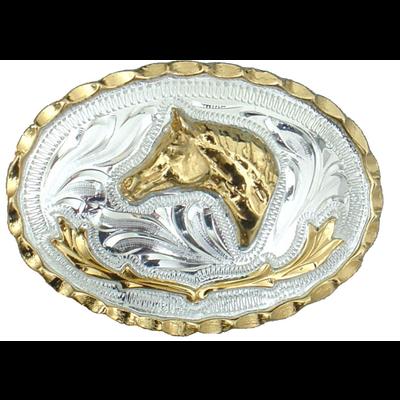 German Silver Horsehead Buckle