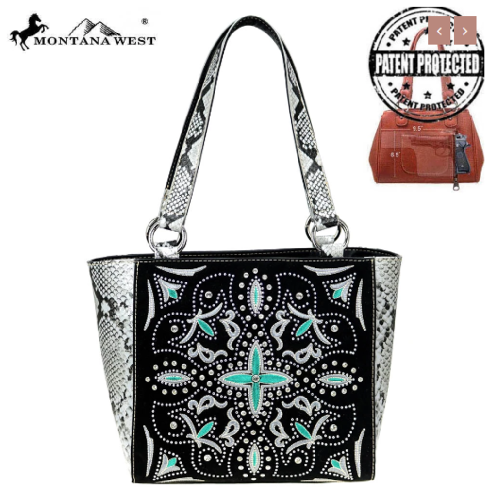 Montana West Montana West Embroidered Conceal Carry Tote