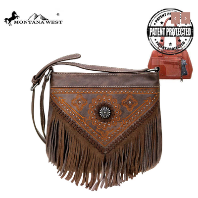 Montana West Montana West Concho Conceal Carry Crossbody Coffee