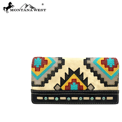 Montana West Montana West Aztec Wallet Black