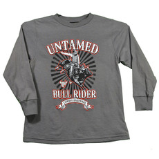 Cowboy Hardware Youth Untamed Bull Rider LS Tee