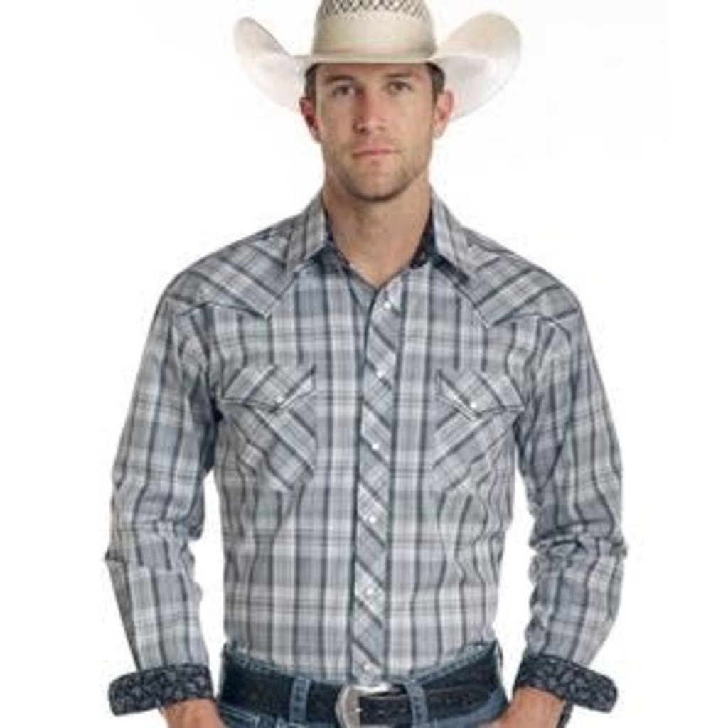 Panhandle Slim Panhandle Roughstock Grey Snap Shirt R0F1525