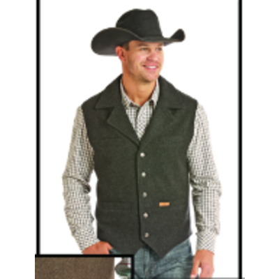 Men's Wool Vest BLK