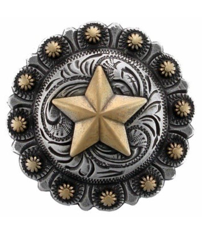 "Texas Star Berry Western Concho 1 1/4"""