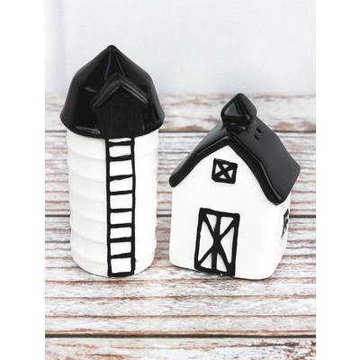 Barn and Silo Salt & Pepper Set