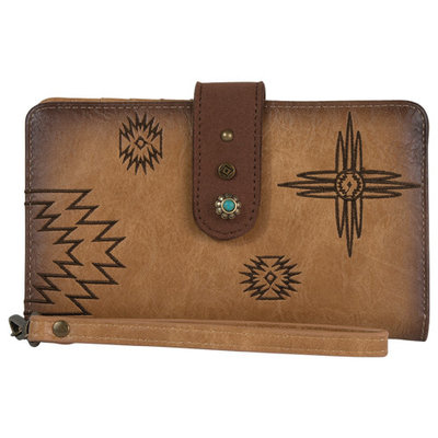 Catchfly Angel Fire Wallet Burnished Tan