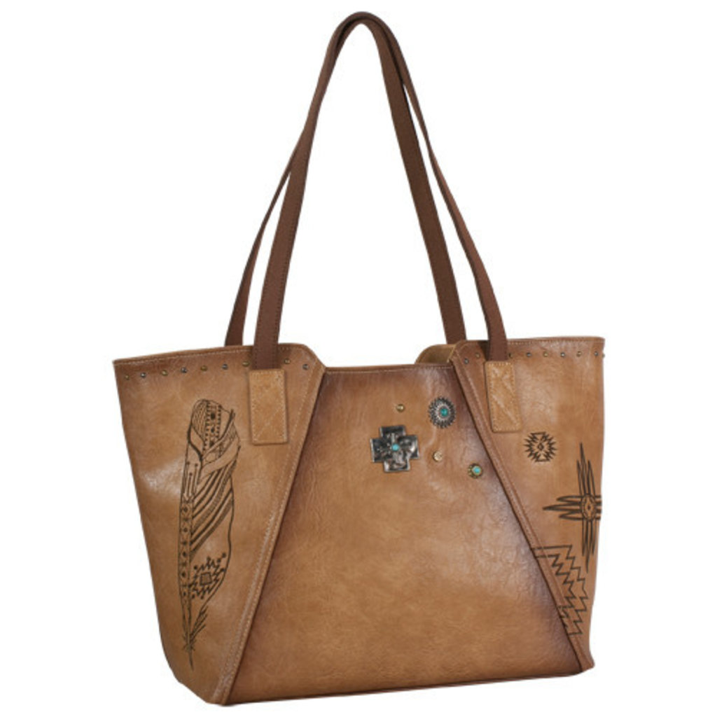 Catchfly Angel Fire Purse Burnished Tan