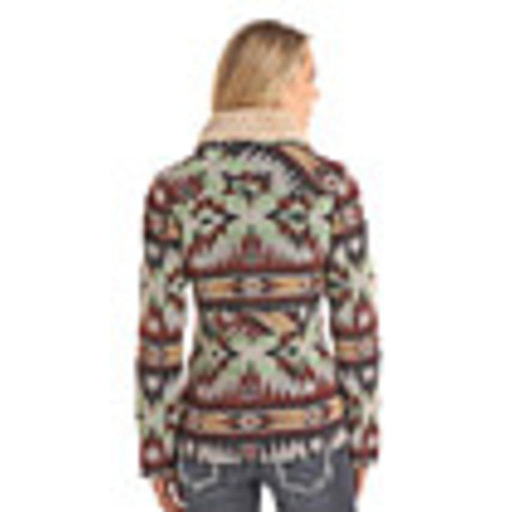 Powder River Aztec Wool Jacquard Coat
