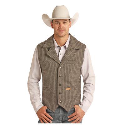 Powder River Men's Wool Stripe Vest