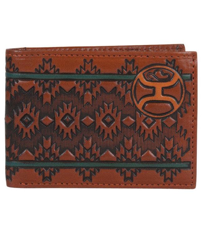 Hooey Bifold Wallet Chestnut Aztec