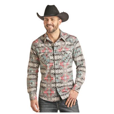 Panhandle Slim Men's Aztec Print Western Shirt B2S2315