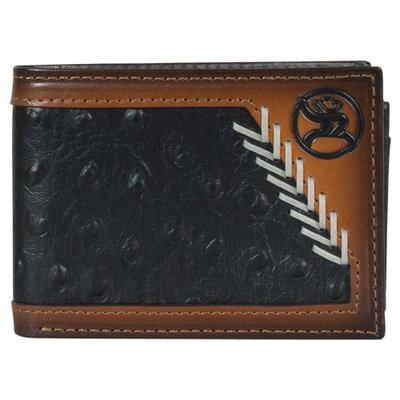 Hooey Roughy Bifold Wallet Black Ostrich