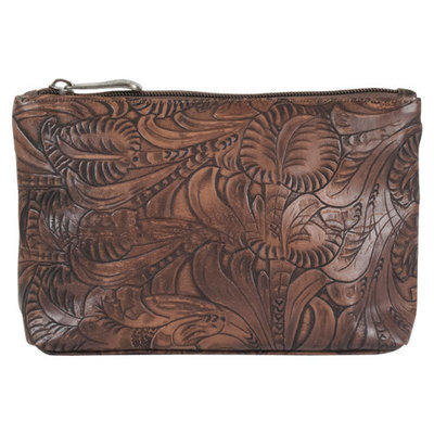 Justin Small Tooled Cosmetics Case