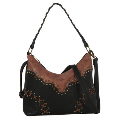 Justin Slouch Purse Black & Chestnut