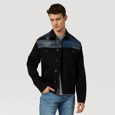 Wrangler Men's Western Shoulder Denim Jacket MJM13BL