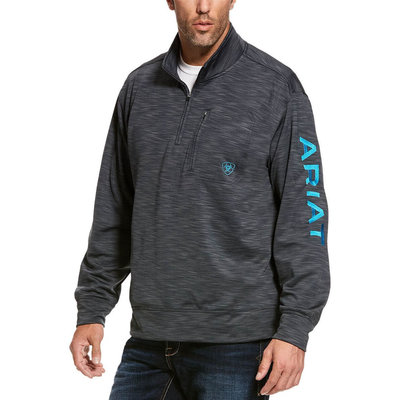 Ariat Men's Team Logo 1/4 Zip Top