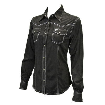 Cowboy Hardware Western Faux Suede Shirt