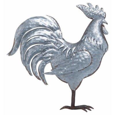 Metal Silver Spring Farmhouse Rooster Decor