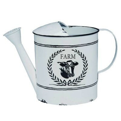 Enamel Cow Watering Can