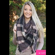 Autumn Ambiance Blanket Scarf, Pink