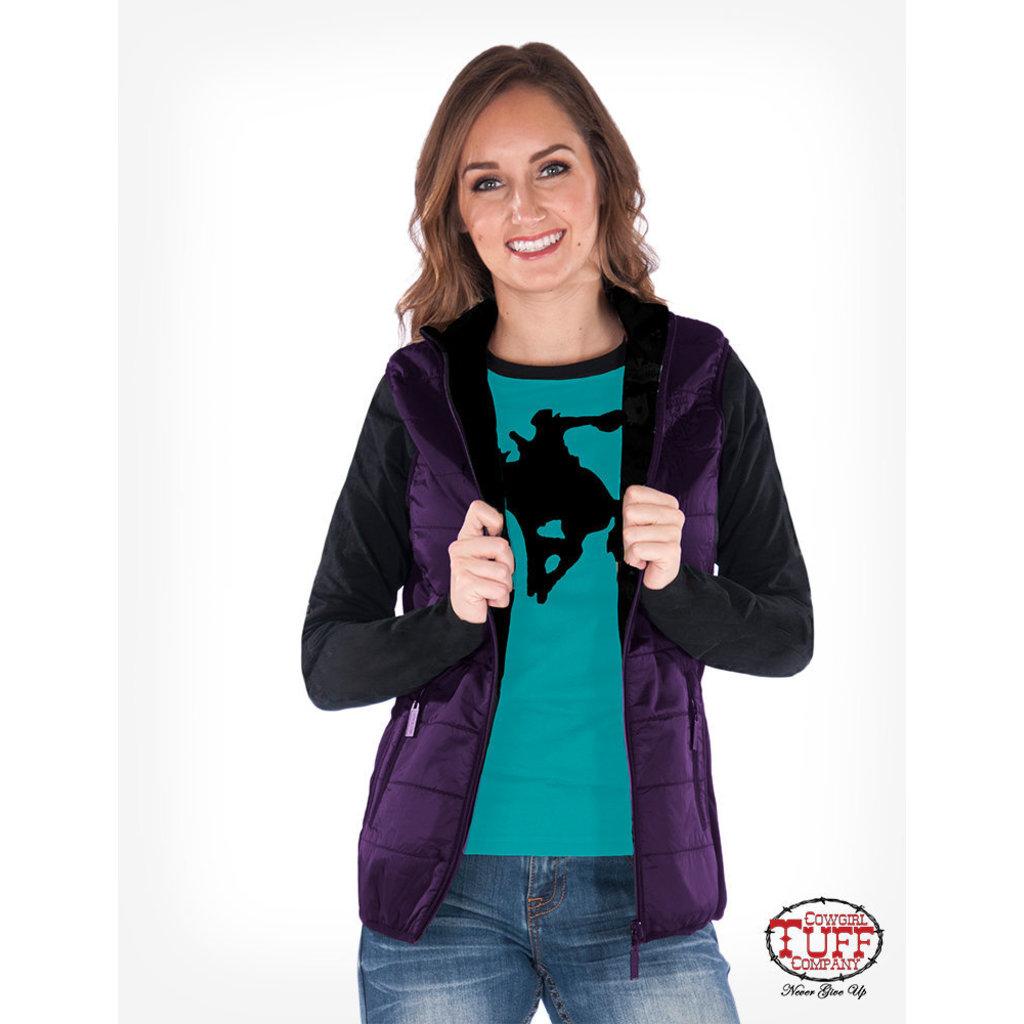 Cowgirl Tuff Purple Shimmer Vest