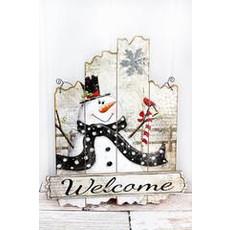 Glitter Snowman Welcome Sign