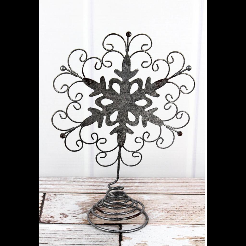 Metal Snowflake Table Decor