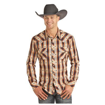 Panhandle Slim Men's Jacquard Plaid Shirt B2S3084
