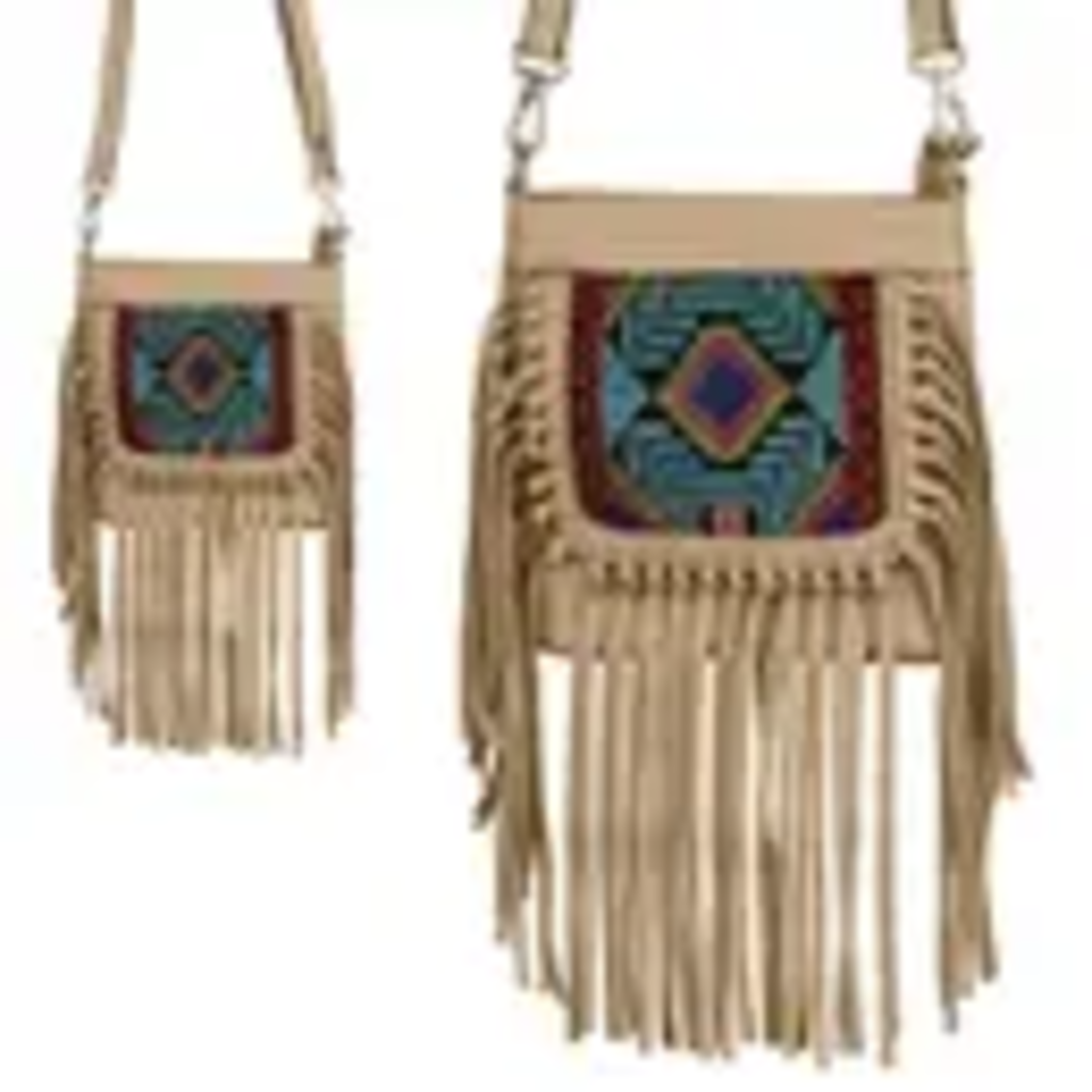 Tan Tassle Crossbody Bag
