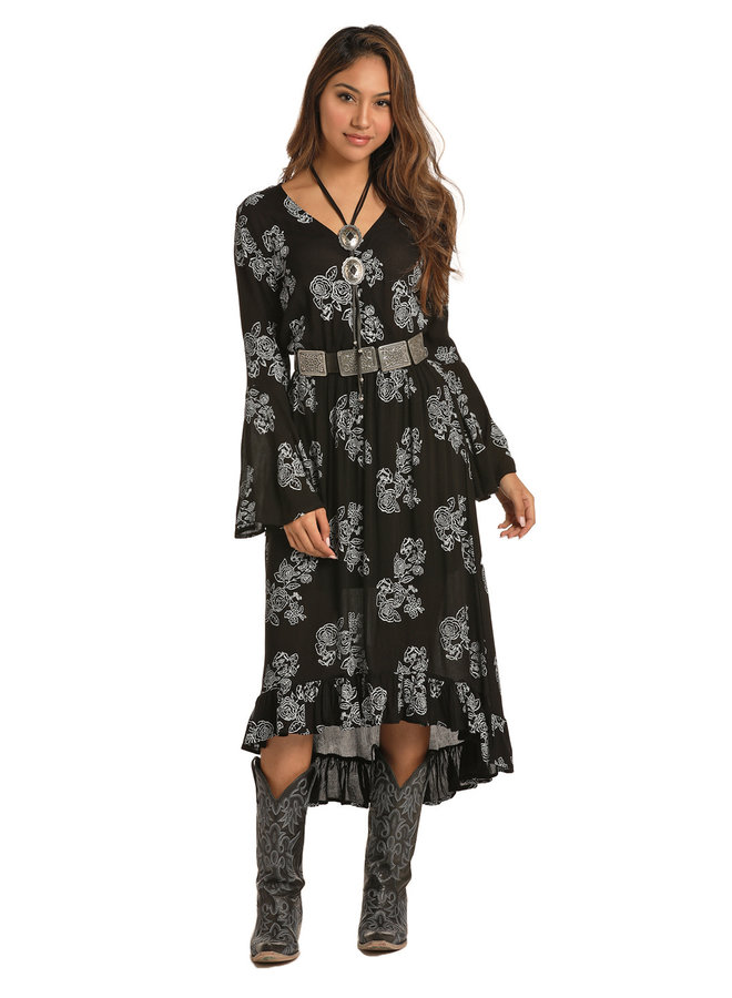 Ladies Western Dress D4-2558