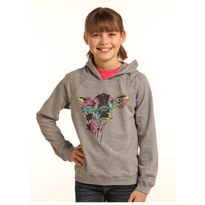 Panhandle Slim Kid's Rock&Roll Cow Sweatshirt G4H3318