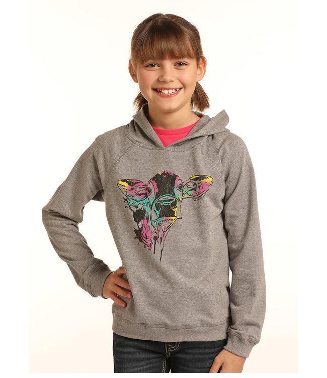 Panhandle Slim Kid's Rock&Roll Cow Sweatshirt G4H3318