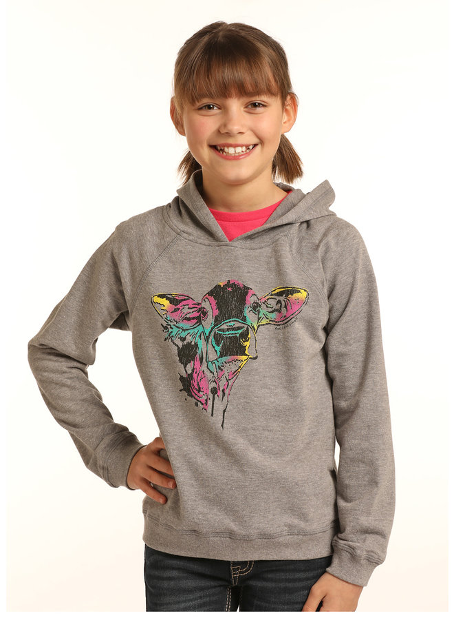 Kid's Rock&Roll Cow Sweatshirt G4H3318