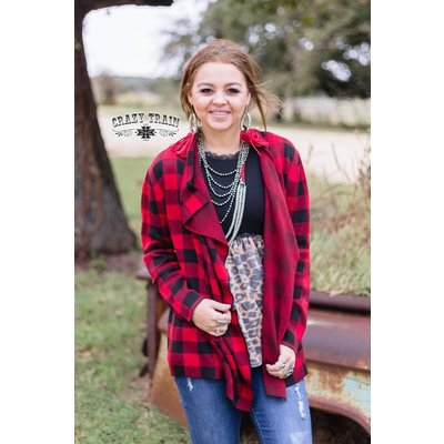 Crazy Train Clothing Perfect Plaid Cardigan Buffalo Plaid
