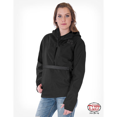Cowgirl Tuff Black Microfiber Pullover Hooded Jacket