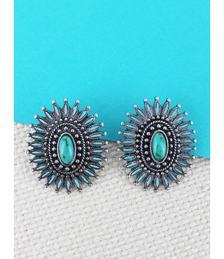 Turquoise Sunburst Earring