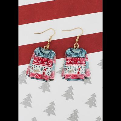 Ugly Christmas Sweater Earrings