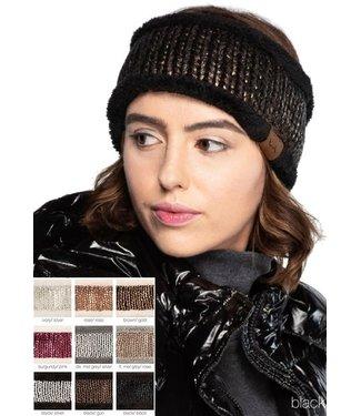 C.C. C.C. Metallic Headwrap Light Grey/Rose