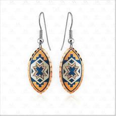 Copper Native Art Deco Earrings