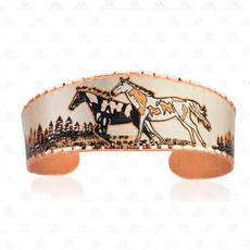 Copper Running Horses Bracelet